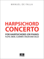 Manuel de Falla Concerto for Harpsichord, Flute, Oboe, Clarinet, Violin and Cello - Full Score and Parts