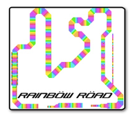 Rainbow Road Sticker