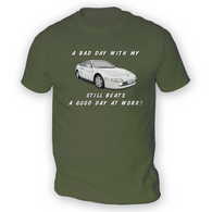 Bad Day With My MR2 W20 Beats Work Mens T-Shirt