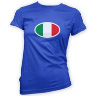 Italian Flag Womans T-Shirt