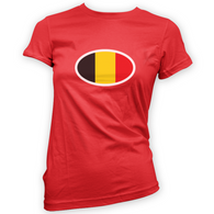 Belgian Flag Womans T-Shirt
