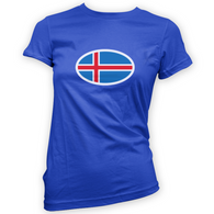 Iceland Flag Womans T-Shirt