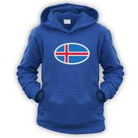 Iceland Flag Kids Hoodie