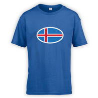 Iceland Flag Kids T-Shirt