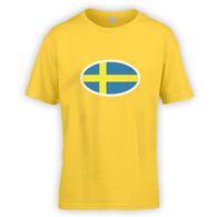 Swedish Flag Kids T-Shirt