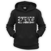 My Engine All Carb Diet Kids Hoodie