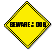 Beware of the Dog Sticker