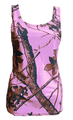pink camouflage tank top - better than mossy oak or realtree brand - Huntress CAMO