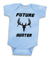 Hunting Baby Clothing - Future Hunter in Baby Boy Blue in sizes from newborn, 6 month, 12 month, 18 month and 2 year