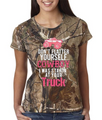 Dont Flatter Yourself Cowboy I Was Lookn At Your Truck Tee Shirt For Realtree Camo Lovers