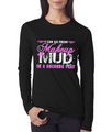 Country Girl Shirt Junior Fit Make Up To Mud Long Sleeve Shirt