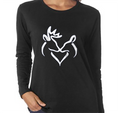Ladies Sizes Black Scoop His Doe T With Graphic