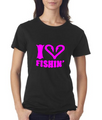 Short Sleeve Black and Pink I Love Fishin Shirt
