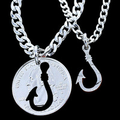 Fish Hook Coin Necklace