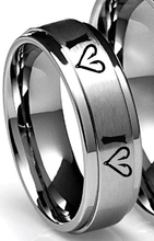 Fish Hook Heart Ring In All Sizes