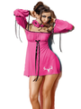 Deer Skull Diva Rose Red Baby Doll With Panty