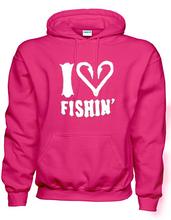 I Love Fishin Solid Color Hoodie