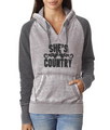 She's Country High Quality Contrast Hoodie
