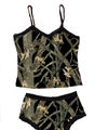 Black Camo Lingerie - Camisole and Boy Shorts Panties