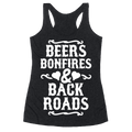 Beers Racerback and Backroads Shirt For The Ladies