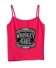 Whiskey Girl Cami in red