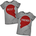 Best Friends Half Heart Makes A Whole Shirt Set