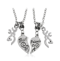 Best Friends Necklace Heart Set