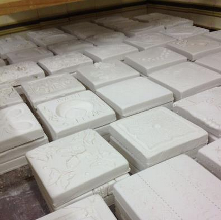 Motawi Tile works Tiles in the kiln