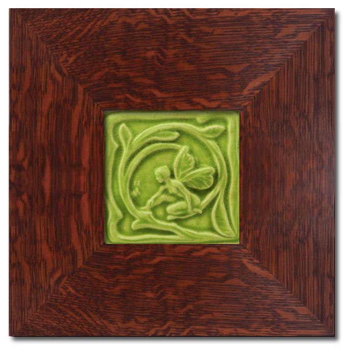 Tile with Dard Hunter Frame
