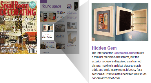 As Seen In | Press Features For Our Unique Wood Recessed Picture Frame Medicine  Cabinet With No Mirror!