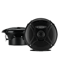 "New Pair of Cadence SQS-65B 6.5"" Inch Marine Boat Waterproof Round Speakers with 240 Watts + Built in Mylar Capacitor Crossovers to Filter Out Unwanted Frequencies **Cadence Only Makes Top of the Line Audio Equipment**"