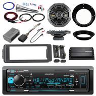 "98-2013 FLHT Install Bluetooth USB  Adapter Kit Kicker Amp Kicker 6.5"" Speakers"