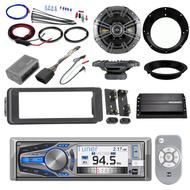 """Harley Bluetooth FLHX Instal Adapter Kit,Kicker Amplifier,6.5""""Kicker Speaker Set"""
