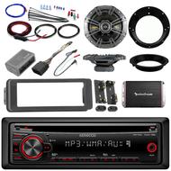 "Harley CD AUX Harley FLHTC Install Adapter Kit Amplifier Kicker 6.5"" Speakers"