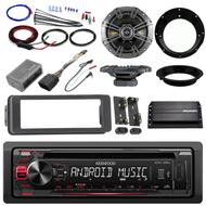 "Harley FLHT FLHX Install Adapter Kit,CD AUX Radio,Kicker Amp,Kicker 6.5""Speakers"