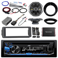 "98-2013 Bluetooth CD Install Harley DIN Kit,Kicker 6.5""Speaker Set,Amplifier Set"