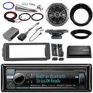 "98-2013 Bluetooth CD Harley FLHT Install Kit, Kicker Amp, Kicker 6.5"" Speakers"
