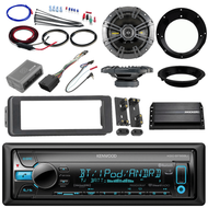 "Bluetooth CD Harley FLHT 98-2013 Adapter Kit, Kicker Amp, Kicker 6.5"" Speakers"