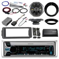 """Harley Bluetooth USB CD Install Adapter Kit, Kicker Amp, 6.5"""" Kicker Speaker Set"""
