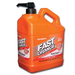 Fast Orange cleans aluminum extrusion