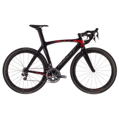 Ridley Noah Fast Shimano STI equipped Carbon Bicycle, Black & Red - Build It Your Way