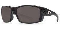 Costa Del Mar Cortez 580P Polarized Sunglasses, Shiny Black with Grey Lens