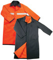 Black and Orange Raincoat