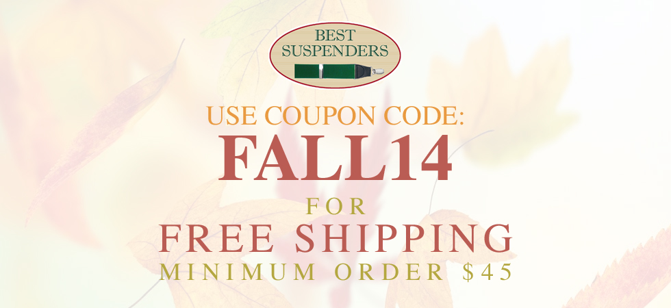 Use coupon code: FALL14 for Free Shipping Minimum Order $45