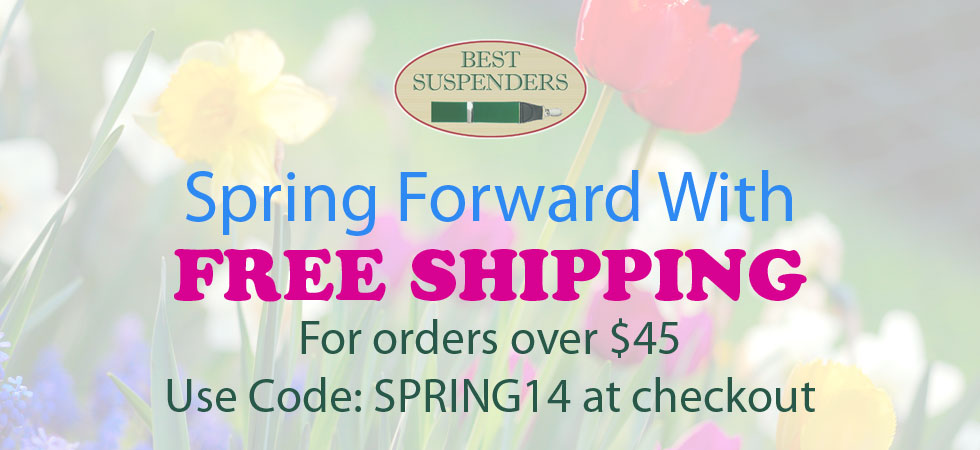 Spring forward with Free Shipping for orders over $45.  Use Code: SPRING14 at checkout.