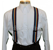 Navy Rainbow Suspenders