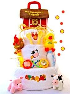 Farm Fun Diaper Cake 3 Tier