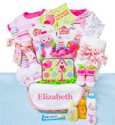 Baby Bug Pink Gift Basket