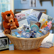 Deluxe Welcome Baby Boy Gift Basket