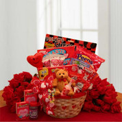 Kids Valentine Gift Basket for Valentine's Day
